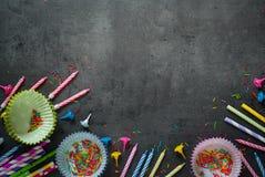 Accesorios para la hornada del día de fiesta y del cumpleaños Imagen de archivo
