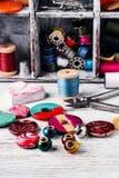 Accesorios para la joyería de los artes Fotografía de archivo
