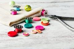 Accesorios para la joyería de los artes Imagen de archivo libre de regalías
