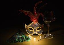 Accesorios para la mascarada Imagen de archivo libre de regalías