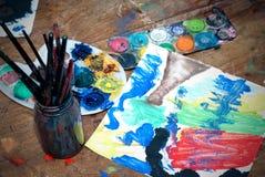 Accesorios para la pintura Foto de archivo libre de regalías