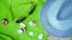 Accesorios para la playa Imágenes de archivo libres de regalías
