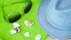 Accesorios para la playa Fotografía de archivo libre de regalías