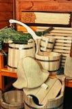 Accesorios para la sauna Foto de archivo
