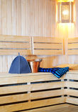 Accesorios para la sauna Imagenes de archivo