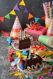 Accesorios para los partidos del ` s de los niños Foto de archivo