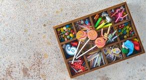 Accesorios para los partidos del ` s de los niños Imagen de archivo