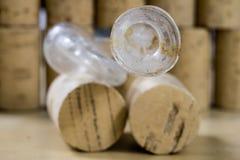 Accesorios para los productos hechos en casa del vino y de alcohol Ferme sucio Fotos de archivo