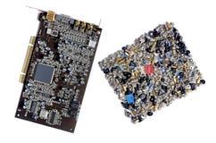 Accesorios para los tornillos del ordenador Fotografía de archivo libre de regalías