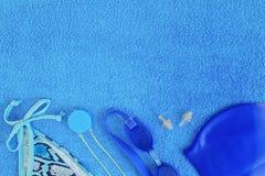 Accesorios para nadar en la piscina Imagen de archivo