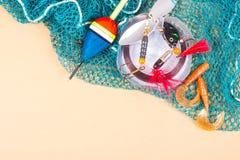 Accesorios para pescar Cebos de pesca Fotos de archivo libres de regalías