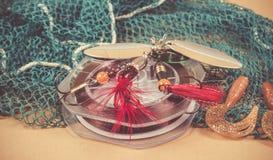 Accesorios para pescar Cebos de pesca Imágenes de archivo libres de regalías