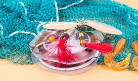 Accesorios para pescar Cebos de pesca Imagen de archivo libre de regalías