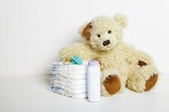 Accesorios para recién nacido Foto de archivo