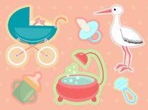 Accesorios para recién nacido Imagen de archivo