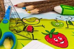 Accesorios para subir a la escuela primaria Fotografía de archivo libre de regalías