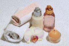 Accesorios para un baño Fotografía de archivo libre de regalías