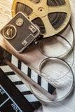 Accesorios retros de la película Imágenes de archivo libres de regalías