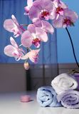 Accesorios románticos del baño Fotos de archivo