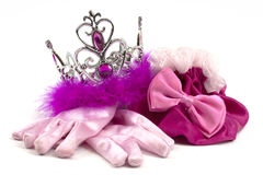 Accesorios rosados de la princesa Imagen de archivo libre de regalías