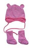 Accesorios rosados de los bebés Imagen de archivo libre de regalías