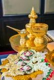 Accesorios tailandeses de la boda Imagen de archivo
