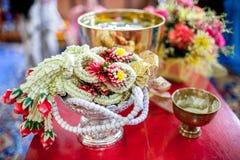 Accesorios tailandeses de la boda Fotos de archivo libres de regalías