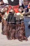 Accesorios tradicionales búlgaros del traje Imagen de archivo libre de regalías