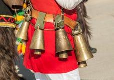 Accesorios tradicionales búlgaros del traje Fotografía de archivo libre de regalías