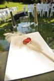 Accesorios y apoyos de la boda Foto de archivo