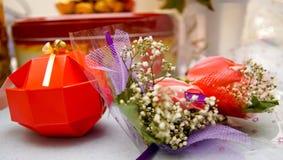 Accesorios y apoyos de la boda Imagenes de archivo