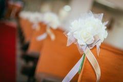 Accesorios y apoyos de la boda Imágenes de archivo libres de regalías