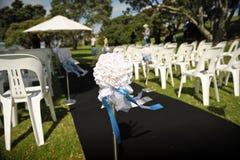 Accesorios y apoyos de la boda Fotografía de archivo libre de regalías
