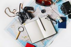 Accesorios y artículos del viaje Fotos de archivo libres de regalías