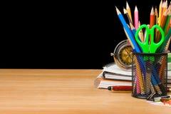 Accesorios y cuadernos de la escuela Fotografía de archivo