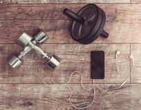 Accesorios y equipo del deporte Fotografía de archivo libre de regalías
