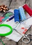 Accesorios y herramientas de costura Imagen de archivo