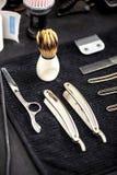 Accesorios y herramientas del peluquero Fotografía de archivo libre de regalías