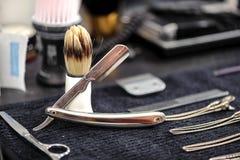 Accesorios y herramientas del peluquero Imagen de archivo