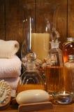 Accesorios y productos del baño Fotos de archivo libres de regalías