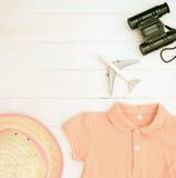 Accesorios y ropa de la niña Imagenes de archivo