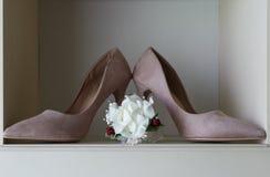 accesorios y zapatos nupciales Imagen de archivo