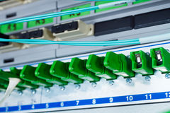 Accesos ópticos de la fibra Fotografía de archivo libre de regalías