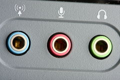 Accesos audios Fotografía de archivo
