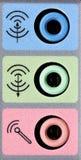 Accesos de entrada de información y de salida de tarjeta de los sonidos Fotografía de archivo libre de regalías