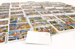 Accesos de la travesía de las postales de la llamada con el espacio en blanco trasero Imagen de archivo libre de regalías
