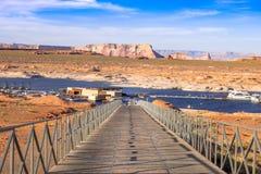 Access à la marina de point d'antilope, lac Powell, Arizona, Etats-Unis Photo libre de droits
