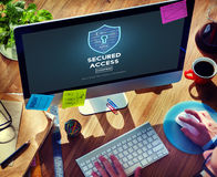 Access Accessibility Analysing Browsing Business Concept. Secured Access Accessibility Analysing Browsing Concept Royalty Free Stock Images