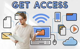 Access Accessible Availability Free Open Possible Concept Royalty Free Stock Photography