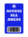 Access all areas pass Stock Image